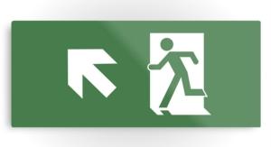 Running Man Exit Sign Printed Metal 27