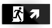 Running Man Exit Sign Printed Metal 33