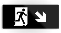 Running Man Exit Sign Printed Metal 34