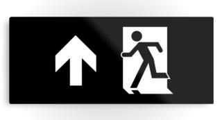 Running Man Exit Sign Printed Metal 37
