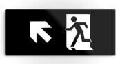 Running Man Exit Sign Printed Metal 39