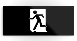 Running Man Exit Sign Printed Metal 42