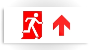 Running Man Exit Sign Printed Metal 43