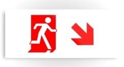 Running Man Exit Sign Printed Metal 46
