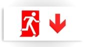 Running Man Exit Sign Printed Metal 47
