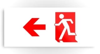 Running Man Exit Sign Printed Metal 50