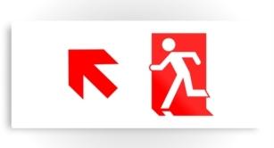 Running Man Exit Sign Printed Metal 51