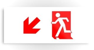 Running Man Exit Sign Printed Metal 52