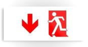 Running Man Exit Sign Printed Metal 53