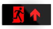 Running Man Exit Sign Printed Metal 56