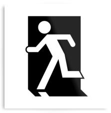 Running Man Exit Sign Printed Metal 6