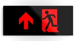Running Man Exit Sign Printed Metal 61