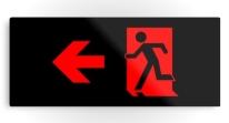 Running Man Exit Sign Printed Metal 62