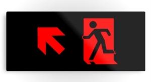 Running Man Exit Sign Printed Metal 63