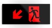 Running Man Exit Sign Printed Metal 64