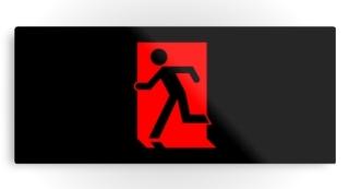 Running Man Exit Sign Printed Metal 66