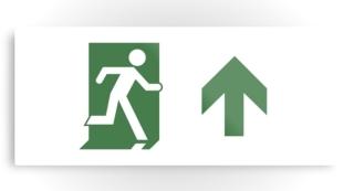 Running Man Exit Sign Printed Metal 67