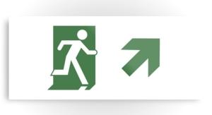 Running Man Exit Sign Printed Metal 69