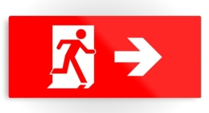 Running Man Exit Sign Printed Metal 7