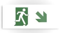 Running Man Exit Sign Printed Metal 70