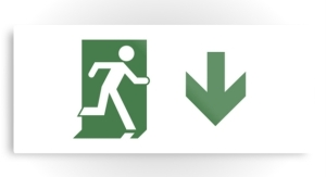 Running Man Exit Sign Printed Metal 71