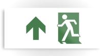 Running Man Exit Sign Printed Metal 73