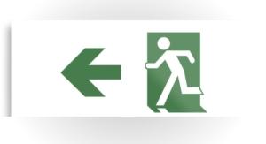 Running Man Exit Sign Printed Metal 74