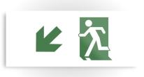 Running Man Exit Sign Printed Metal 76