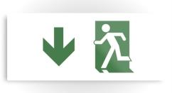 Running Man Exit Sign Printed Metal 77
