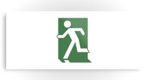 Running Man Exit Sign Printed Metal 78