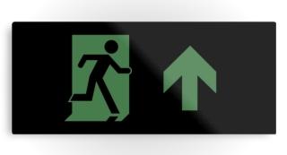 Running Man Exit Sign Printed Metal 79