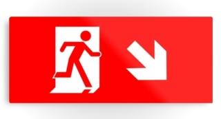 Running Man Exit Sign Printed Metal 8
