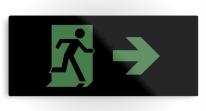 Running Man Exit Sign Printed Metal 80