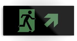 Running Man Exit Sign Printed Metal 81