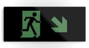 Running Man Exit Sign Printed Metal 82