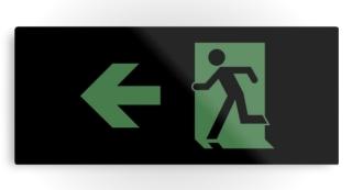 Running Man Exit Sign Printed Metal 86