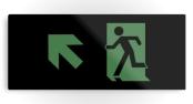 Running Man Exit Sign Printed Metal 87