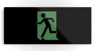 Running Man Exit Sign Printed Metal 89