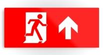 Running Man Exit Sign Printed Metal 9