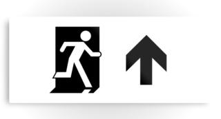 Running Man Exit Sign Printed Metal 91