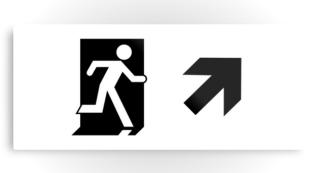 Running Man Exit Sign Printed Metal 93