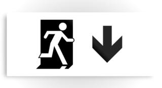 Running Man Exit Sign Printed Metal 95
