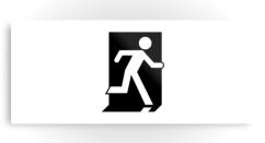 Running Man Exit Sign Printed Metal 96