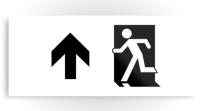 Running Man Exit Sign Printed Metal 97