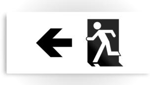 Running Man Exit Sign Printed Metal 98