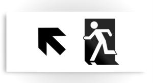 Running Man Exit Sign Printed Metal 99
