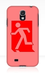 Running Man Exit Sign Samsung Galaxy Mobile Phone Case 1