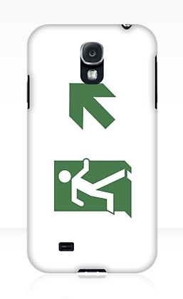 Running Man Exit Sign Samsung Galaxy Mobile Phone Case 10