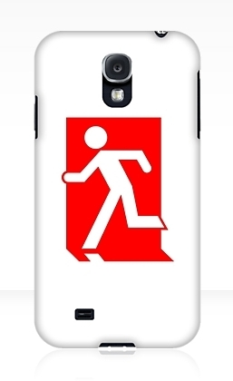 Running Man Exit Sign Samsung Galaxy Mobile Phone Case 100