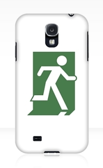 Running Man Exit Sign Samsung Galaxy Mobile Phone Case 101